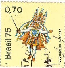 O selo da série Manifestações Folclóricas Brasileiras apresenta os  Guerreiros - Alagoas 90c36a7dabbdd