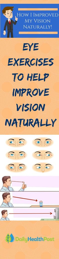 find the time to really take care of our eyes, but did you know you can improve your eyesight without contacts or glasses? Check out!