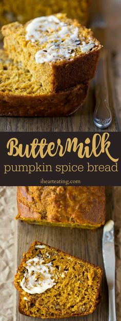 Moist Buttermilk Pumpkin Spice Bread is a richly spiced pumpkin bread that gets its extra softness from the buttermilk, not oil.