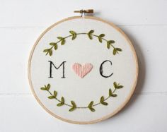wedding embroidery hoop - Google Search