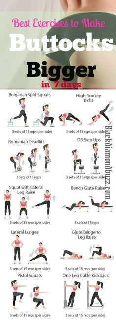 This is how to get a bigger buttocks with exercise in 7days at home and at the Gym .This exercises are to tight ,tone your butt and lift your bum to make a perfect sexy round shape.