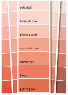 1000 images about color peach coral watermelon on for Soft mocha paint color