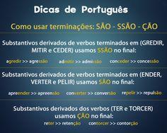 Dicas de Português - Terminações