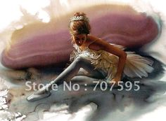Hand painted Ballet oil painting.