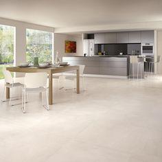 Ceramic Wood Tile Bathroom Floor 26 New Ideas Living Room Flooring, Kitchen Design, Kitchen Flooring, Modern Kitchen, Flooring, House Flooring, Living Room Tiles, House Interior, Grey Flooring