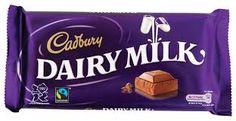 Cadbury Dairy Milk, Milk Chocolate Bar.