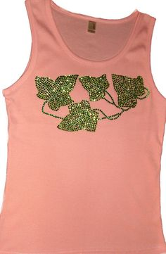 Pink and green rhinestone Ivy