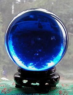 Crystal Gazing Balls - I REALLY WANT a cyrstal gazing ball - 110mm size would be perfect!  Love the little stand!