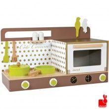 Janod // Chic houten keukentje tafelmodel met accessoires, Janod. Sinterklaascadeautje Mels (bij bol.com)