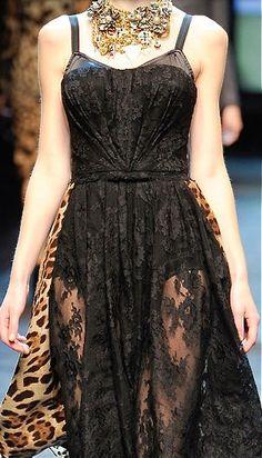 Leopard + boudoir.  Dolce & Gabbana