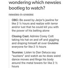 So true and I met the touring cast so probably them! They rocked! Sorry for all the newsies feed but it's my favorite!