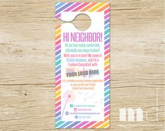 Personalized Door Hanger For Small Business Door Hanger Lula