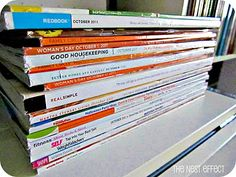 have 10 minutes? clear out magazines and newspapers
