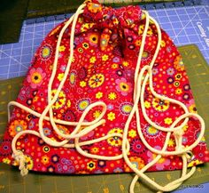 Easy drawstring backpack tutorial