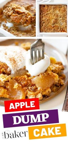 Make the easiest apple dump cake dessert recipe all the time! With few ingredients needed this apple dump cake dessert recipe served effortlessly. The best sweet treat always came from an apple dump cake. Apple Dump Cakes, Dump Cake Recipes, Dessert Cake Recipes, Apple Cake, Apple Recipes, Pumpkin Recipes, Fall Recipes, Sweet Recipes, Homemade Desserts