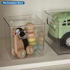 Grouping like-items and storing them in stackable Linus Cube Bins is a fantastic way to stay organized! They can restore order in nearly any room including the kitchen, pantry, bathroom or kids rooms. Use them to sort toys or art supplies on a shelf. Store extra towels and cleaning supplies in a linen closet. Integrated handles keep everything portable. Exceptionally clear construction lets you quickly see what's inside.