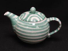 Gmundner Keramik Austria Dizzy Striped Green Coffee Cup And Saucer HTF! Ancient China, Vertigo, Teapots, Tea Set, Austria, Tea Time, Tea Cups, Pottery, Ceramics