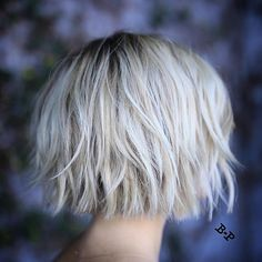 Working on some new styling techniques for these softly layered bobs Haircut…