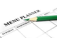 Menu Planning. 30 Day Rotation