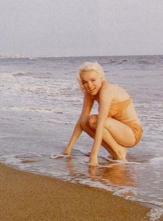 Marilyn at Santa Monica Beach, Photographed by George Barris. July 1962