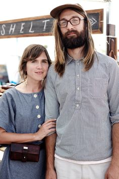 Met this lovely creative couple from Asheville, NC at the Renegade Craft Fair SF. Their design company/shop is call Shelter. Loved their clutches, purses, and belts. Photo: Winnie Au