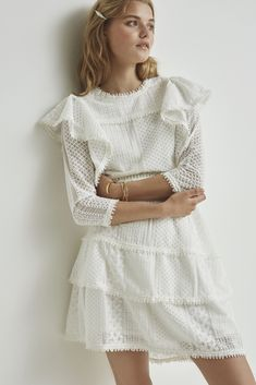 Perfekt til at fuldende dit look! Casual Dress Outfits, Stylish Outfits, Summer Outfits, Pretty Outfits, Pretty Dresses, Confirmation Dresses, Lace Dress, White Dress, Cloud Dancer