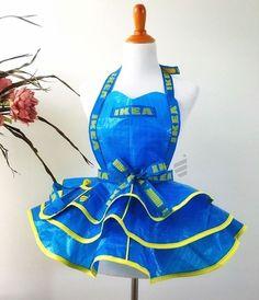 Haben Sie die IKEA FRAKTA-Tasche von 0,60 Cent zu Hause? Mit ein wenig Phantasie und etwas Fingerfertigkeit machen sie tolle Kreationen aus diesen Taschen! - DIY Bastelideen
