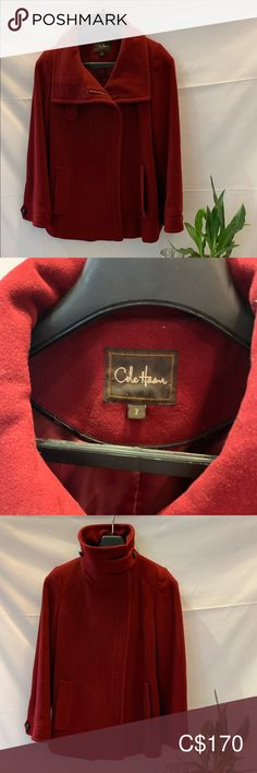 Cole Haan Wool and Cashmere Jacket Cashmere Jacket, Red Burgundy, Plus Fashion, Fashion Tips, Fashion Trends, Cole Haan, Lighter, Jackets For Women, Coats