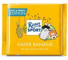 RITTER SPORT Fake Schokolade:  Äffle & Pferdle Edition