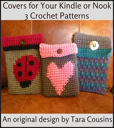 Ravelry: Kindle & Nook Tablet Crochet Covers pattern by Tara Cousins