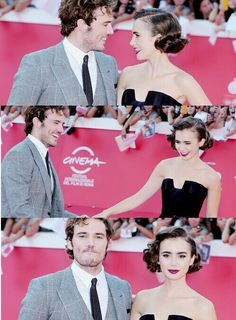 Sam Claflin and Lily Collins :)