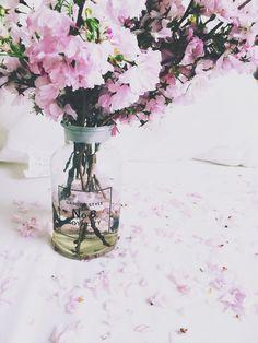 Pink flowers. https://www.etsy.com/au/shop/TashDeardenTheLabel