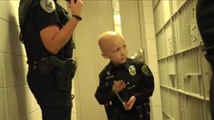 Little Boy with stage four cancer gets to become a #Police Officer....Please Retweet! http://youtu.be/CelvGb3TxK0