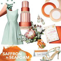 saffron and seafoam