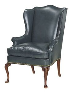 Queen Anne Wing Chair from the James River collection by Hickory Chair Furniture… Foyer Furniture, Furniture Upholstery, Furniture Styles, High Back Armchair, Hickory Chair, Wing Chair, Fireplace Design, Contemporary Rugs, Queen Anne