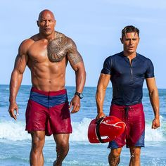 New red band trailer for Baywatch starring Dwayne Johnson, Zac Efron, Alexandra Daddario, and Priyanka Chopra. The Rock Dwayne Johnson, Dwayne The Rock, Rock Johnson, Alexandra Daddario, Jodie Foster, Priyanka Chopra, Hollywood Box Office, Zac Efron Baywatch, Baywatch 2017