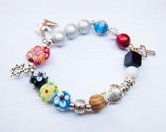 Rosary Bracelet, Heart Bracelet, Unique Bracelets, Beaded Bracelets, Jesus Stories, Catholic Jewelry, Vintage Jewelry, Unique Jewelry, Big Love