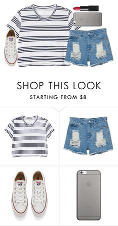 """""""Untitled #1678"""" by ibthal-hussain ❤ liked on Polyvore featuring Monki, Converse, Native Union and NARS Cosmetics"""