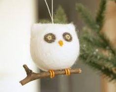 Výsledok vyhľadávania obrázkov pre dopyt christmas owl felted