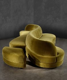 Sofa designed by Charles Zana and upholstered in Teddy Mohair by Pierre Frey. Handmade in Les Ateliers Jouffre in Lyon, France Sofa Furniture, Furniture Design, Bespoke Furniture, Velvet Furniture, Furniture Ideas, Interior Design Living Room, Interior Decorating, Art Deco Movement, Upholstered Sofa