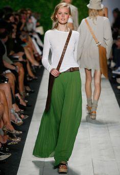 Michael Kors Long Pleated Skirt, Spring-Summer 2011