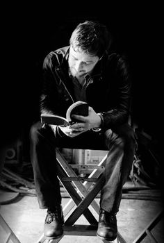 James McAvoy reading. Two favorite things in one picture