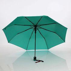 Parapluie pliant automatique 8 baleines vert menthe