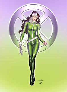 Rogue after Wolverine touch  Lines: Spider Guile  Colors: Stacy Raven