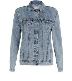 Pale Blue Acid Wash Oversize Denim Jacket Look Teen Guy Fashion, New Wardrobe, Winter Wardrobe, Summer Wardrobe, Oversized Denim Jacket, Blue Jean Jacket, New Look, Bomber Jacket, Collection