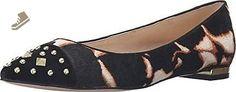 Nine West Women's Adelphine Pony Pointed Toe Flat, Black Wild Spots, 8 M US - Nine west flats for women (*Amazon Partner-Link)