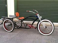 show your pics of your custom trikes Tricycle Bike, Trike Bicycle, Trike Motorcycle, Cruiser Bicycle, Motorized Bicycle, Cargo Bike, Cool Bicycles, Cool Bikes, Velo Shop