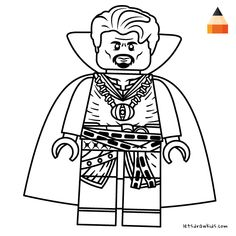 Coloring page for Kids - Thor Lego Drawing | Crafting ...