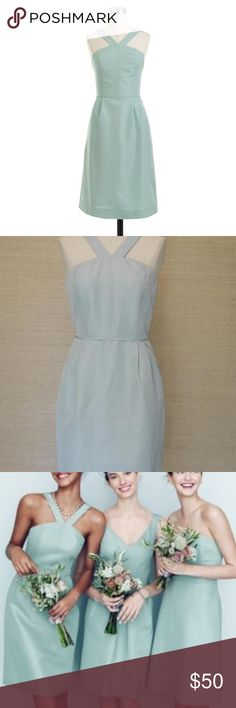 48b894c07d J.Crew Lexie Classic Faille Dress in Mint. Mint BlueDress SkirtJ ...