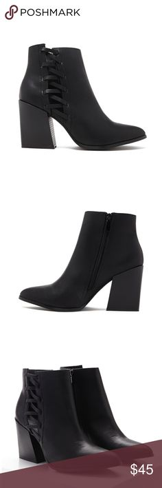 Black Cut out Booties Brand new Shoes